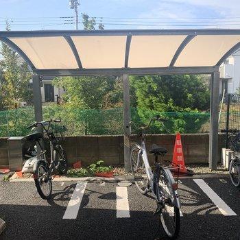 自転車置き場もありました。