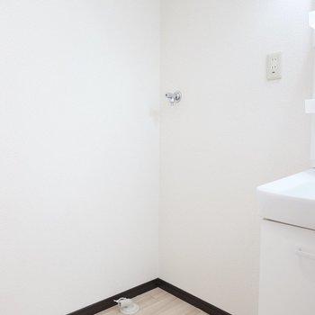 その左には洗濯機置き場。