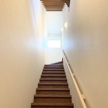 最後にもう一度階段を振り返って。