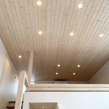 天井も床も木の質感が素敵なんです。