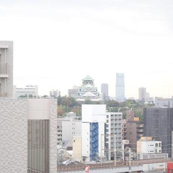 大阪城が見えます!