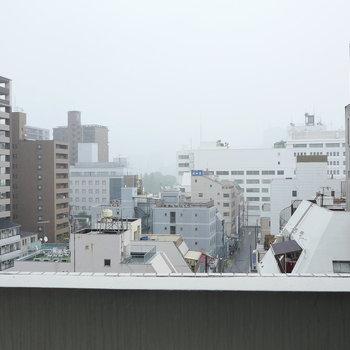 眺望、開けています。 (※写真は8階別部屋からのものです)