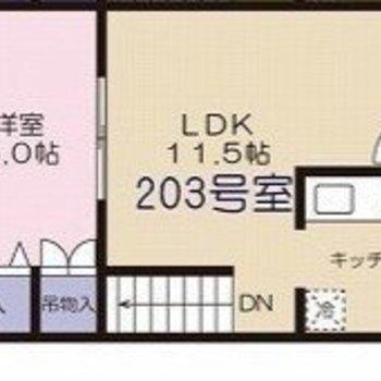 リビングが広いお部屋です。