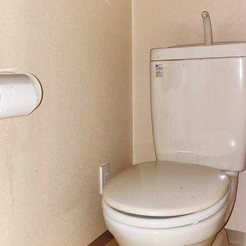 トイレにはお気に入りのタオルをかけてね。