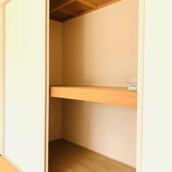 なのに収納はしっかり(※写真は2階の反転間取り別部屋、モデルルームのものです)
