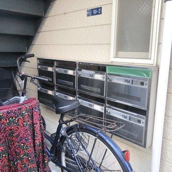 1階スペースにあるメールボックスです。