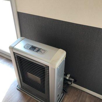 暖房器具もあります※写真は清掃前のものです