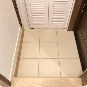 靴の脱ぎ履きがしやすそうな玄関スペースです