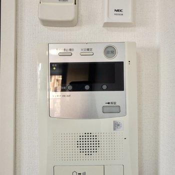 モニター付きドアホンで安心して過ごせます。