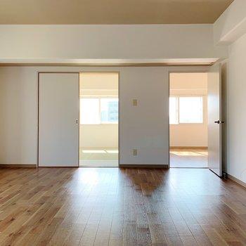 和室と洋室がそれぞれ1つずつ。