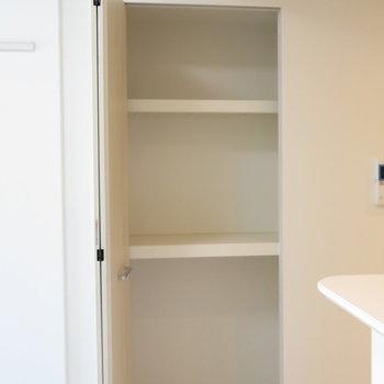 リビング脇の収納がとっても考えられてますね※写真は同間取り別部屋のものです。