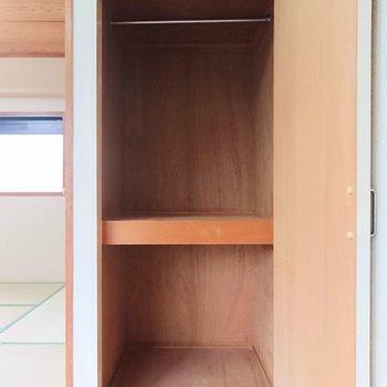 【洋室】収納ケースを使って整理整頓してくださいね