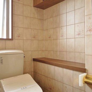 ペーパーホルダーは金色☆(※写真は8階の同間取り別部屋のものです)
