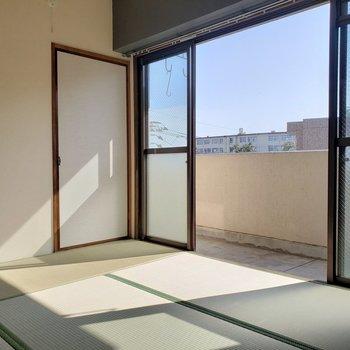 和室、ずっと欲しかったんだ〜!ここでゆったりお茶でも飲みたい!(※写真は4階の反転間取り別部屋のものです)
