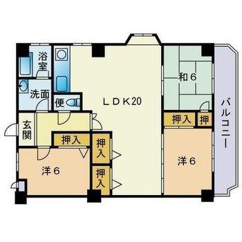 広々3LDKのお部屋。和室もあります!