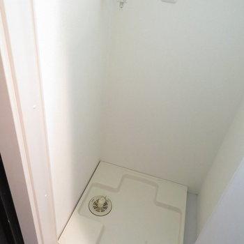玄関横に洗濯機置き場が※写真は8階同間取り・別部屋のものです。