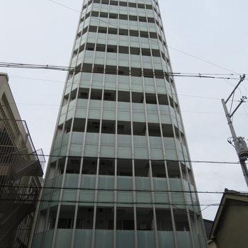 周りの建物が低いので目立ちます