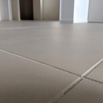 床が大判のタイル。(珍しい!)これがいい味出してる。