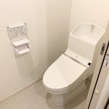 トイレはウォシュレット付いてます。(※写真のお部屋は清掃前のものです)