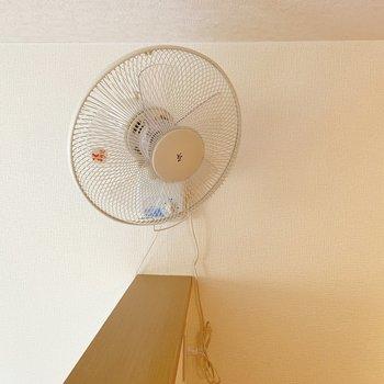 【ロフト】扇風機が付いているのは特に嬉しいです。※写真は1階の同間取り別部屋のものです