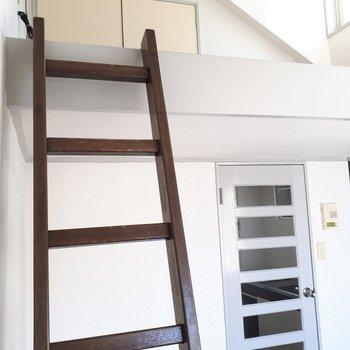 はしごを登って上へ※写真は6階の同間取り別部屋のものです