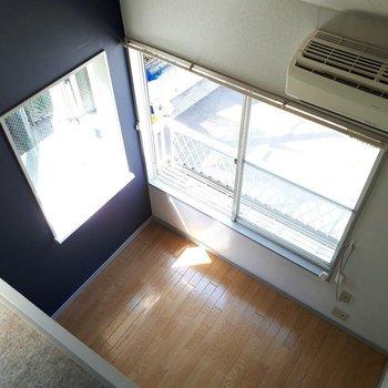 ロフトからの眺め※写真は6階の同間取り別部屋のものです
