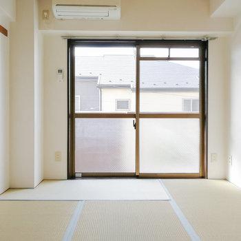 和室は6帖。寝室にちょうど良い広さです。