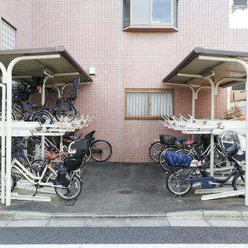 駐輪場も備えられております。