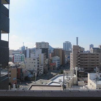 綺麗な青空。そして京セラドームがすぐ近くに