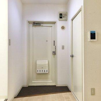 玄関はゆったりとしたスペース。