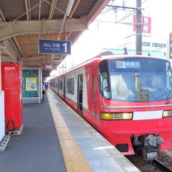 名古屋まで急行で20分。意外と便利です※前回募集時の写真です