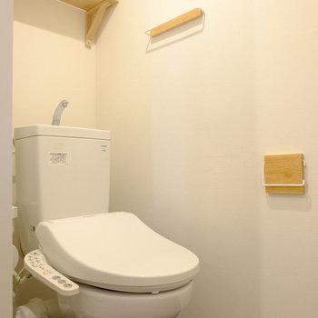 トイレの小物もかわいい!※前回工事したお部屋の写真です。