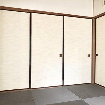 【和室6帖】襖を閉めても圧迫感を感じない広さです