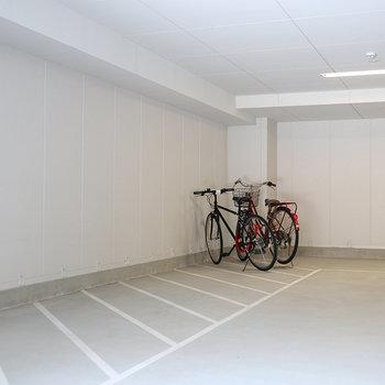 自転車も濡れないですね