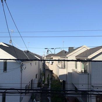 眺望は2階建てのお家達。