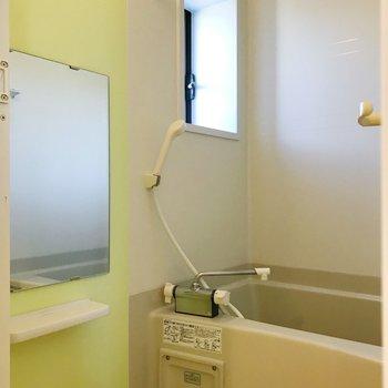 小窓付きお風呂。爽やかに。