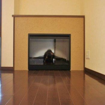 これが噂の暖炉です!!!