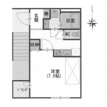 シンプルなお部屋ですね。エレベーターはありません…。