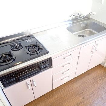 調理スペースも広く、お料理を楽しめそうですね。