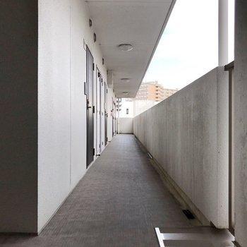 共用廊下もしっかり清掃されていました。