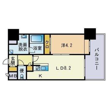 ゆったり1人暮らしを楽しみたい1LDKのお部屋。