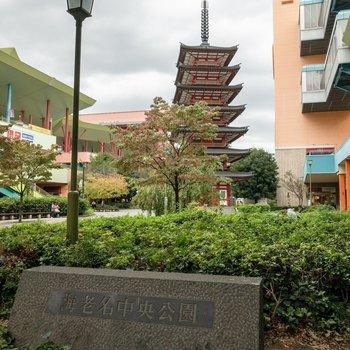 海老名中央公園には七重塔のモニュメントが。