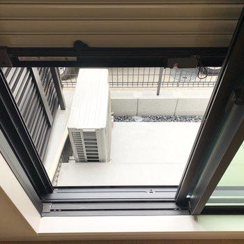 1階のお部屋なので雨戸シャッターが付いています。
