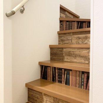 先ずは玄関入ってすぐに階段。