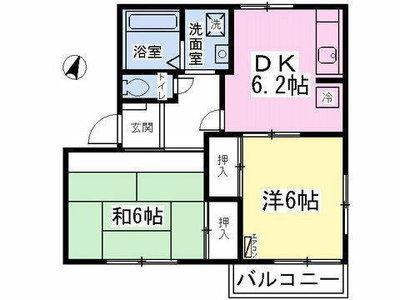 東所沢18分アパート の間取り