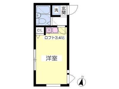 笹塚11分アパート の間取り