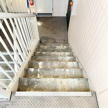 階段の幅はやや狭め。