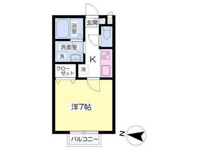 富士見台9分アパート の間取り