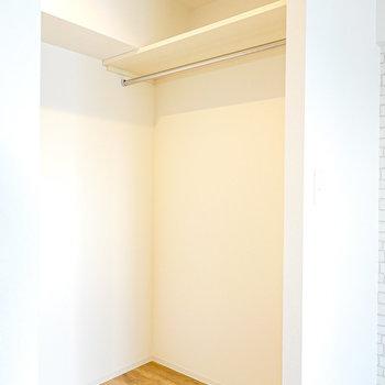 奥には個室にできそうなほどの広さのウォークイン!