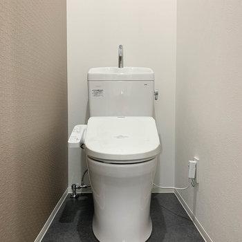 サニタリーから更に扉を開けると、トイレがあります。